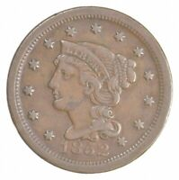 BETTER 1852 BRAIDED HAIR US LARGE CENT PENNY COIN COLLECTION