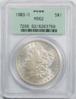 1903 O $1 MORGAN DOLLAR PCGS MINT STATE 62 UNCIRCULATED OGH OLD HOLDER  COIN