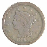BETTER 1848 BRAIDED HAIR US LARGE CENT PENNY COIN COLLECTION