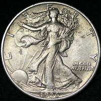 AU 1936 D WALKING LIBERTY SILVER FREE SHIPPING