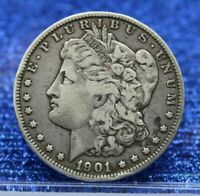 1901 O MORGAN SILVER DOLLAR $1  FINE VF MR230