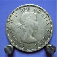 CANADIAN 80  SILVER DOLLAR COIN 1962 GOOD CONDITION  SEE PIC