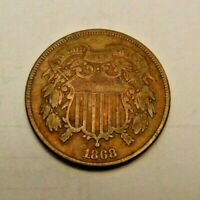 1868 TWO CENT PIECE  YOU GRADE SEE PICS  STARTS AT 2 CENTS