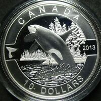 2013 CANADA PROOF THE ORCA 1/2 OUNCE .9999 FINE SILVER TEN D