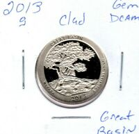 2013 S CLAD GREAT BASIN QUARTER GEM DEEP CAM MIGHT SELL ON 1