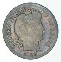 1908 D BARBER DIME   CHARLES COIN COLLECTION  770