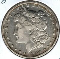 1901-O MORGAN SILVER DOLLAR GRADES  FINE READ PLEASE C4489