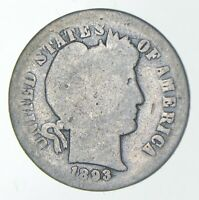 1893 O BARBER DIME   CHARLES COIN COLLECTION  732