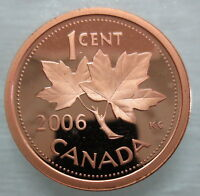2006 CANADA 1 CENT PROOF NON MAGNETIC PENNY HEAVY CAMEO COIN