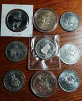 CANADA TRADE DOLLAR LOTS OF 9 COINS12