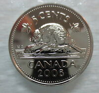 2006P CANADA 5 CENTS PROOF LIKE NICKEL COIN