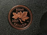2005 CANADIAN PROOF PENNY ONE CENT   1 CENT   OXIDIZED/SPOTS
