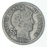 1914 D BARBER DIME   CHARLES COIN COLLECTION  816