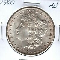 1900 MORGAN SILVER DOLLAR GRADES ALMOST UNCIRCULATED  C4507