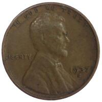 1937 S LINCOLN WHEAT CENT  FINE PENNY VF