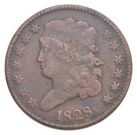1828 CLASSIC HEAD HALF CENT   JACOBS COIN COLLECTION  542