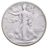 1938 D WALKING LIBERTY HALF DOLLAR   JACOBS COIN COLLECTION