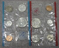 1963 PD MINT SET 10 COINS IN MINT CELLO WITH ENVELOPE FREE S