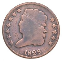 1828 CLASSIC HEAD HALF CENT   JACOBS COIN COLLECTION  537
