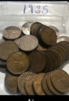 LOT724 ROLL OF  1935 WHEAT CENTS GOOD CONDITION