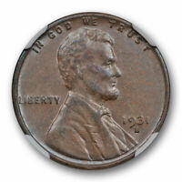 1931 S 1C LINCOLN WHEAT CENT NGC EXTRA FINE  45 BN EXTRA FINE TO ABOUT UNCIRCULATED