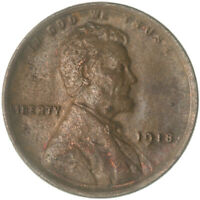 1918 LINCOLN WHEAT CENT ABOUT UNCIRCULATED PENNY AU