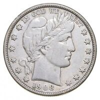 1908 BARBER HALF DOLLAR   CHARLES COIN COLLECTION  694