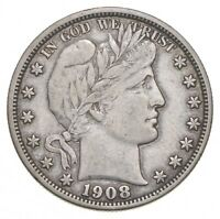 1908 BARBER HALF DOLLAR   CHARLES COIN COLLECTION  698