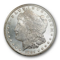 1884 CC $1 MORGAN DOLLAR NGC MINT STATE 64 PL UNCIRCULATED PROOF LIKE BLAST WHITE