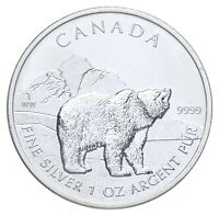 2011 CANADA $5.00   1 OZ. SILVER GRIZZLY BEAR   CHARLES COIN