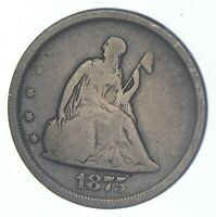 1875 S SEATED LIBERTY TWENTY CENT PIECE   CHARLES COIN COLLE