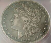 1889-CC MORGAN SILVER DOLLAR. PROBLEM FREE COIN. GRADED AT VF35 BY ICG