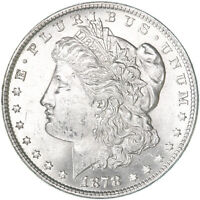 1878 MORGAN SILVER DOLLAR 7 TAIL FEATHERS REVERSE OF 79 BU SEE PICS E600