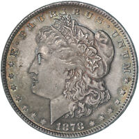 1878 MORGAN SILVER DOLLAR 7/8 TAIL FEATHERS UNCIRCULATED TONED SEE PICS E601