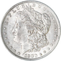 1880 MORGAN SILVER DOLLAR ABOUT UNCIRCULATED AU SEE PICS F265