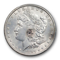 1897 O $1 MORGAN DOLLAR PCGS AU 58 ABOUT UNCIRCULATED NEW ORLEANS MINT