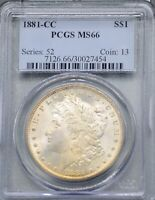1881 CC CERTIFIED PCGS MINT STATE 66