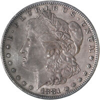 1881 S MORGAN SILVER DOLLAR ABOUT UNCIRCULATED AU SEE PICS F577