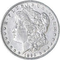 1892 MORGAN SILVER DOLLAR EXTRA FINE EXTRA FINE  CLEANED SEE PICS F622