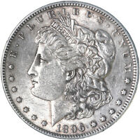 1896 MORGAN SILVER DOLLAR ABOUT UNCIRCULATED AU SEE PICS F627