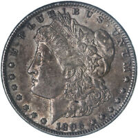 1896 MORGAN SILVER DOLLAR ABOUT UNCIRCULATED AU SEE PICS F628
