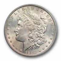 1902 S $1 MORGAN DOLLAR PCGS MINT STATE 63 UNCIRCULATED BETTER DATE TONED PRETTY
