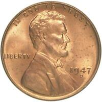 1947 D LINCOLN WHEAT CENT BU PENNY US COIN