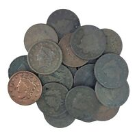 MATRON HEAD LARGE CENTS   MIXED DATES   20 COIN LOT