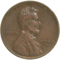 1940 D LINCOLN WHEAT CENT  FINE PENNY VF