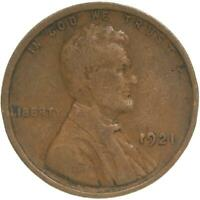 1921 LINCOLN WHEAT CENT  GOOD PENNY VG
