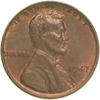 1947 D LINCOLN WHEAT CENT ABOUT UNCIRCULATED PENNY AU