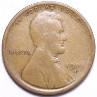 1909-S LINCOLN WHEAT CENT PENNY CHOICE VG SHIPS FREE E849 UFM