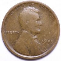 1909-S LINCOLN WHEAT CENT PENNY CHOICE FINE SHIPS FREE E851 AFM