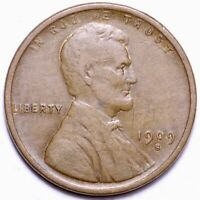 1909-S LINCOLN WHEAT CENT PENNY CHOICE EXTRA FINE  SHIPS FREE E870 RFM